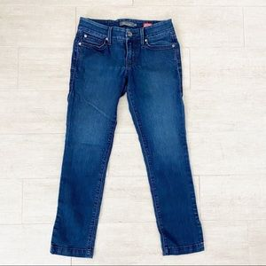 Anthro Level 99 Lily Crop Skinny Straight Jeans